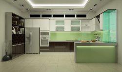 Kính màu ốp bếp dành cho mọi nhà